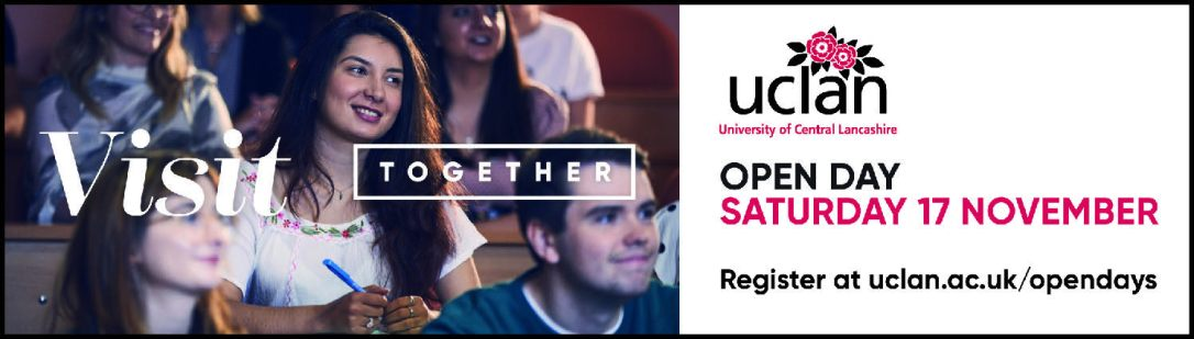 UCLan Open Day ADVERT